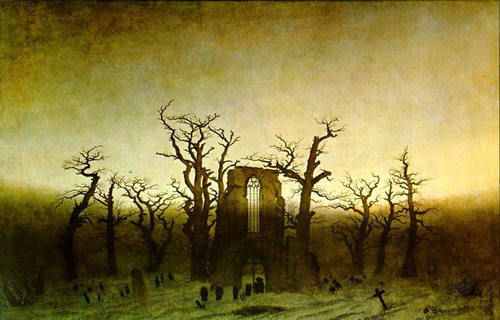 Caspar David Friedrich, The Abbey in the Oakwood, 1810